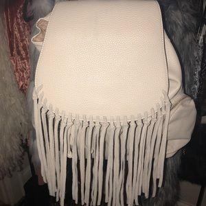 Lionel Cream Fringe Backpack